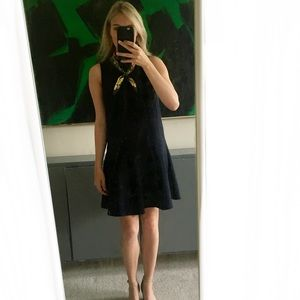 Loft Navy Fit & Flare Dress